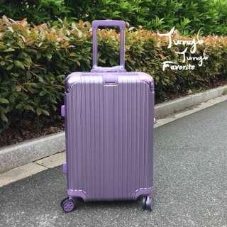 💜夢幻紫金鋁框行李箱😍
