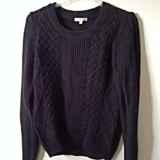 Black Cable Knitsweater