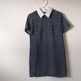 Contrast Collar Mini Dress
