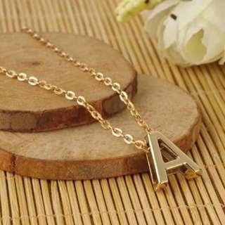 Minimalist Gold Alphabet Pendant Necklace