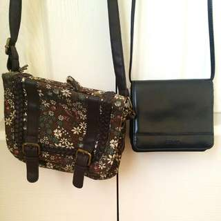 Floral Equip Small Bag (Black One Sold)