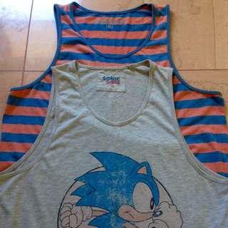 2 x Singlets - Sonic & Orange/Blue (Medium)