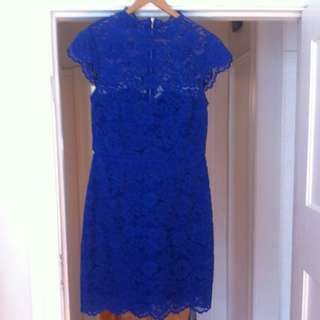 Forever New Royal Blue Lace Dress Size10