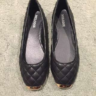 Ballet Quilted Look Flats