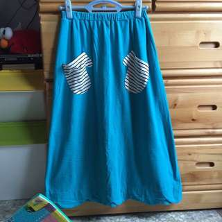 Dailo 藍綠色花瓣長裙