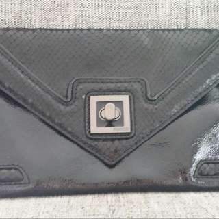 Mimco Black Patent Leather Clutch