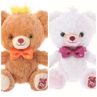 特價 大學熊Unibearsity三月兔時間兔SS號玩偶-砂糖&牛奶
