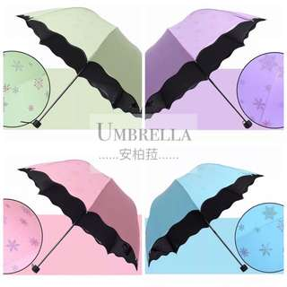 遇光開花 雨傘 折傘 摺傘