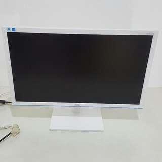 AOC 24 inch Led monitor white color E2476EW6