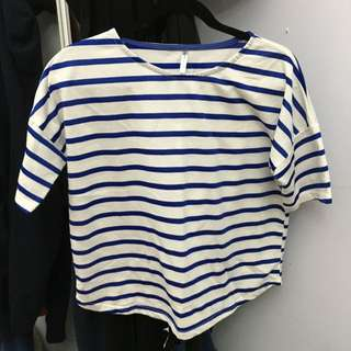 RESERVED-Blue Striped T-shirt