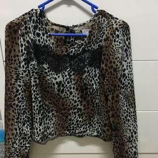 Open Back Leopard Print