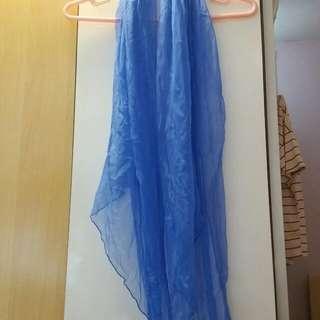 紫藍閃石絲巾