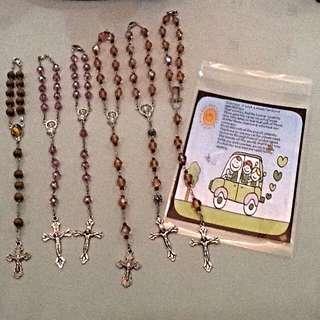 Car Rosary With Prayer Card