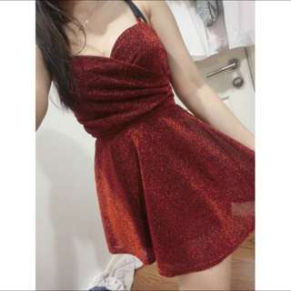 Red Glittery Dress