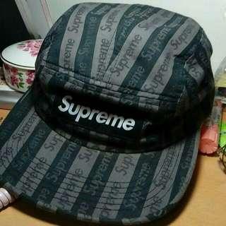 Supreme jacquard logo camp cap