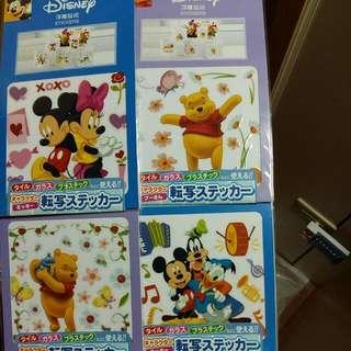 迪士尼浮雕貼紙(四入一組)