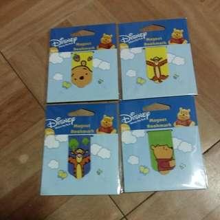 (四入一組)迪士尼小熊維尼磁性書籤
