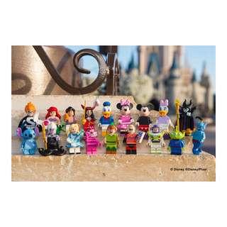 Complete set of 18 Disney Minifigures