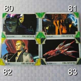 FFVIII Carddass #80~83