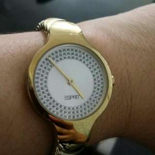 Esprit gold plated watch
