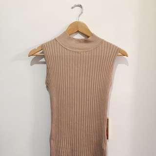 Bodycon Ribbed High neck dress