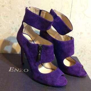 ENZO ANGIOLINI紫色性感高跟鞋