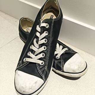 Converse Black Leather Sneakers