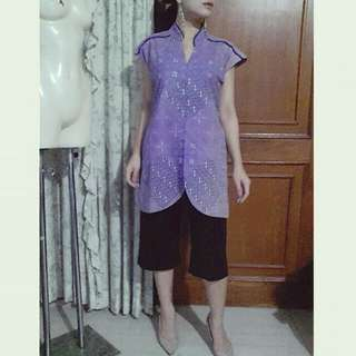 Brand New With Tag Batik Top / Long Outter