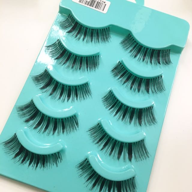 5 Pairs Long n Natural Clear Band Eyelashes/falsies #p06