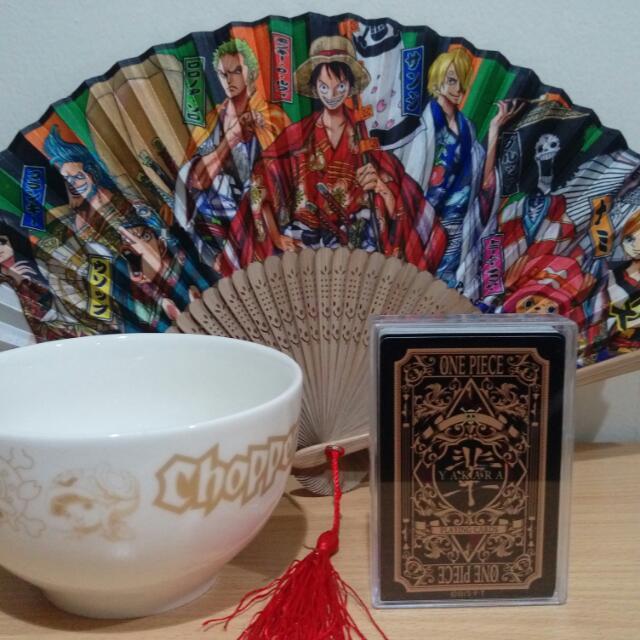 海賊王 航海王 歌舞伎 草帽九人 扇子 日本草帽商店限定撲克牌