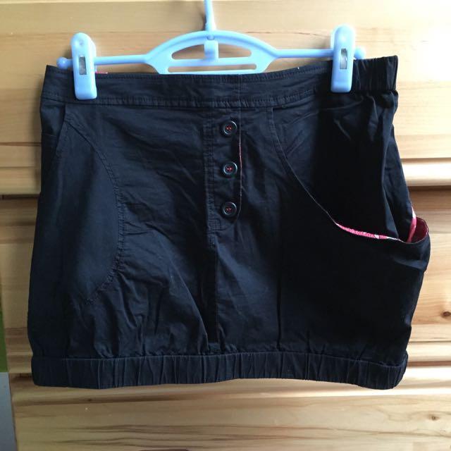 a la sha 黑色短裙