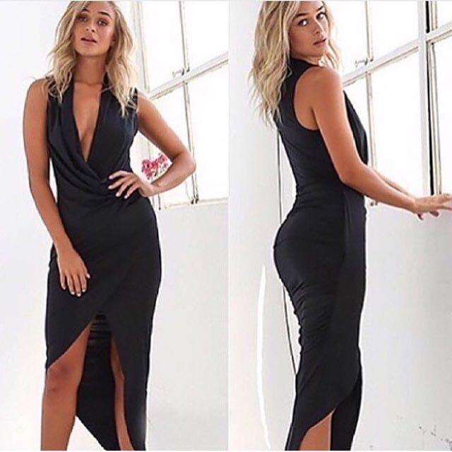 Black Crossover Dress