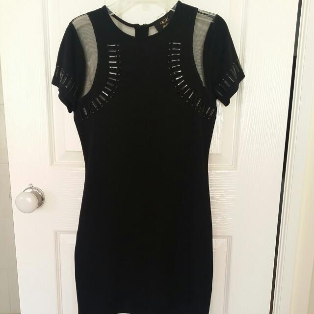 Black Dress Mesh Details