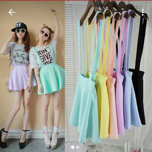 [BN] Mint Suspender Skirt