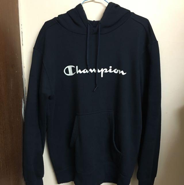 Champion 深藍帽T