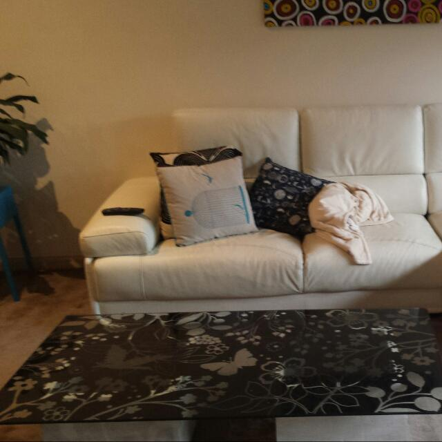 Glass Top Patterned Coffee Table PRICE DROP!!