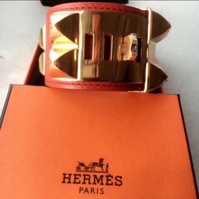 Hermes Orange Collier De Chien