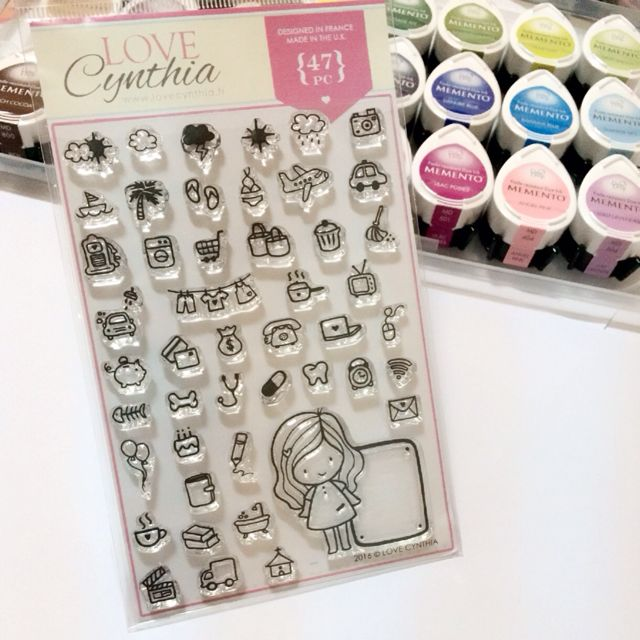 [INSTOCK] Love Cynthia's Clear Stamps - All Doodles Icons (47pcs)