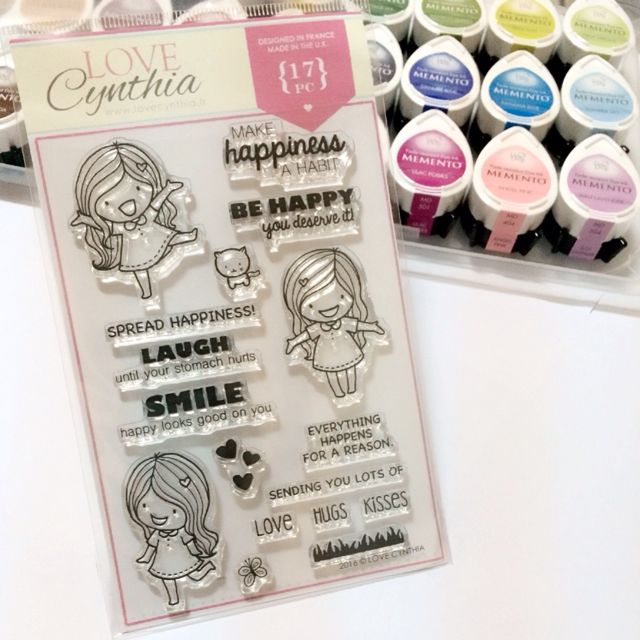 [SOLD OUT] Love Cynthia's Clear Stamps - Make Happiness a Habit (17pcs)