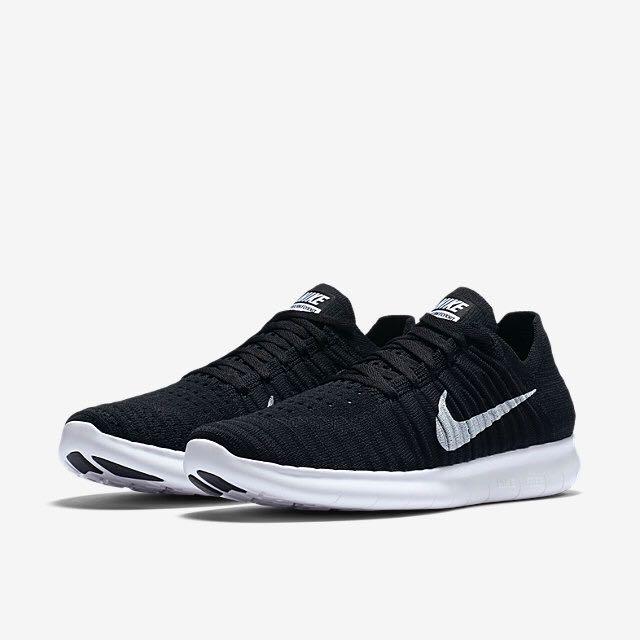 buy online 8fd07 72a52 Nike Free RN Flyknit (Women) - Black/White