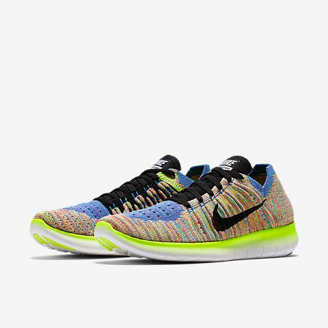wholesale dealer 3394f 171dc Nike Free RN Flyknit (Women) - WhiteBlue GlowHyper PunchBlac