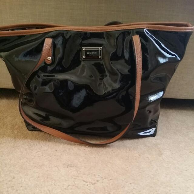 Nine West Wet-look Leather Bag