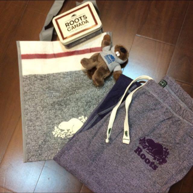 漸層紫roots棉褲