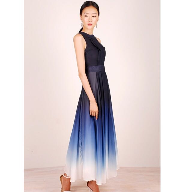 Sale Brand New Blue Ombre Maxi Dress From Theory Of Seven Womens