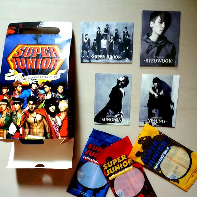 (絕版低價出清)Super Junior Star Collection Card 套卡特卡 003 005 009  011 燙金 一套售只要150元 單買40一張 厲旭 利特 強仁 圭賢 東海 銀赫 神童 晟敏 始源 希澈 藝聲 Henry 周覓 (正版)