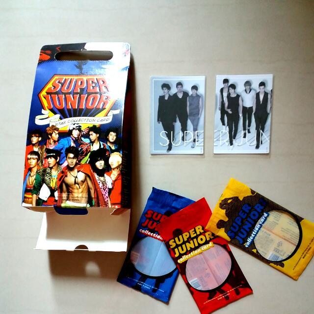 (絕版低價出清)Super Junior Star Collection Card 套卡編號  普卡 133 134 一套售只20元 厲旭 利特 強仁 圭賢 東海 銀赫 神童 晟敏 始源 希澈 藝聲 Henry 周覓 (正版)