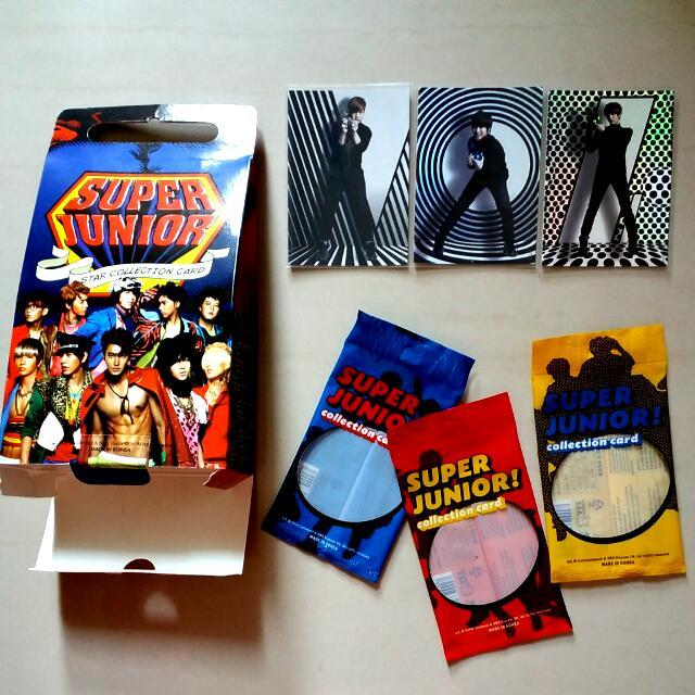 (絕版低價出清)Super Junior Star Collection Card 套卡 特卡 特別版 閃卡特別版 編號37 38 43  一起售只要120 單買50一張 厲旭 利特 強仁 圭賢 東海 銀赫 神童 晟敏 始源 希澈 藝聲 Henry 周覓 (正版)