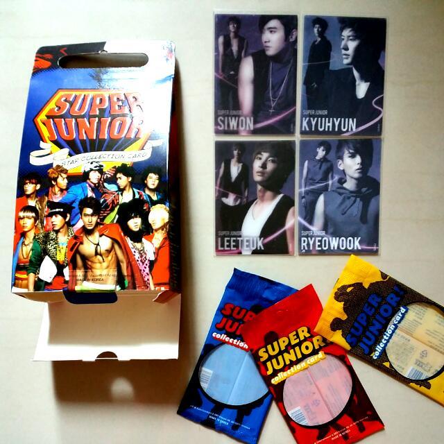 (絕版低價出清)Super Junior Star Collection Card 特卡 立體卡 特別版 套卡編號 44 51 52 53  一張55元 一套200 厲旭 利特 強仁 圭賢 東海 銀赫 神童 晟敏 始源 希澈 藝聲 Henry 周覓 (正版)