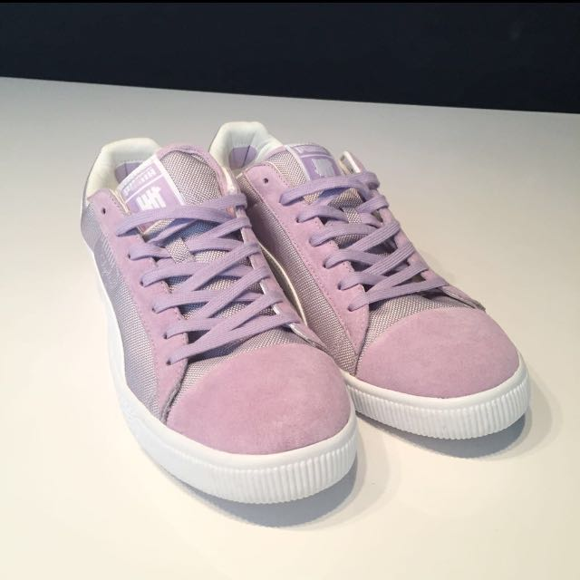 sports shoes c7b33 4ffc3 UNDFTD x Puma Clyde Orchid Bloom Purple white