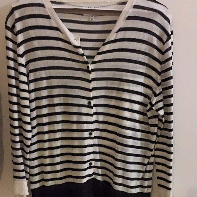 Witchery black and white dress size 12